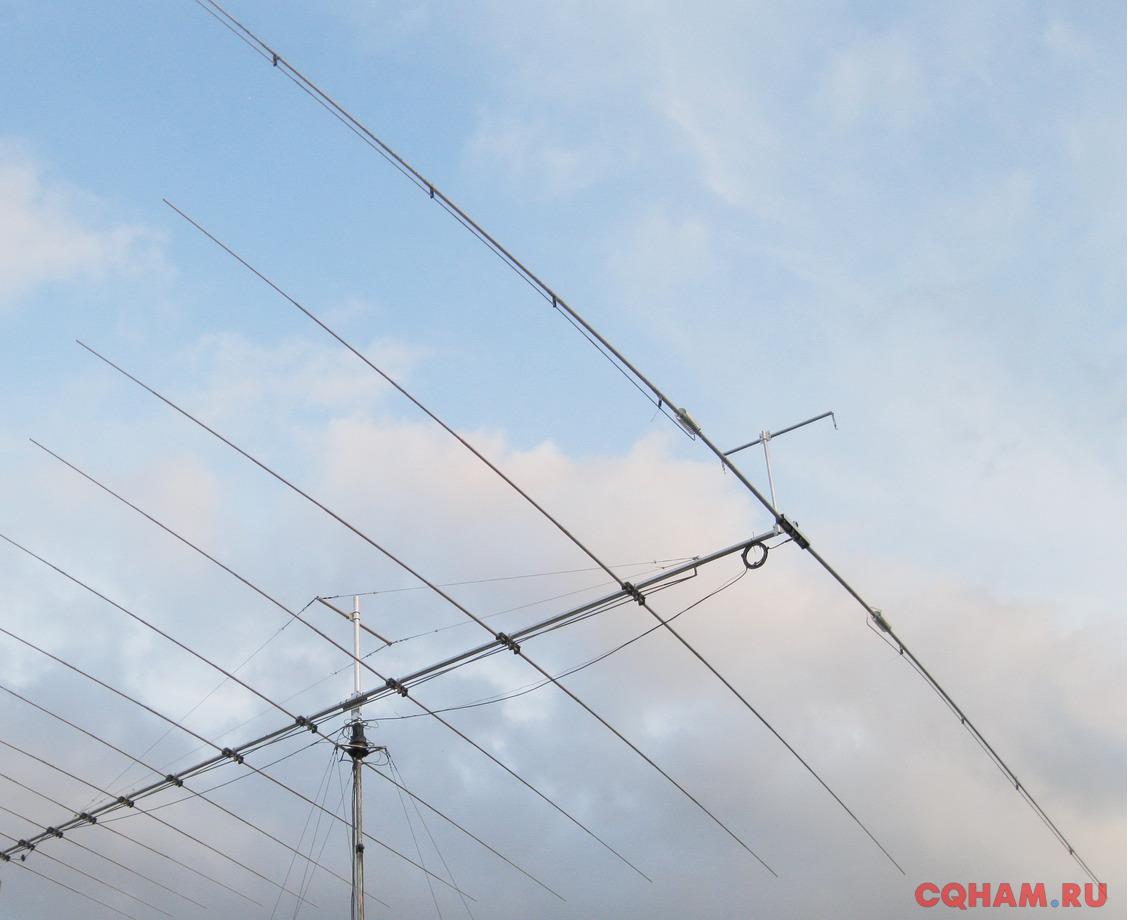 7-50 мГц Логопериодическая SALP 730. Яги КВ и УКВ.